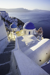 Classic Santorini part2... (Zoltán Melicher) Tags: oia santorini greece sony ilce a7r zeiss landscape city cityscape street aegean sea island europe mediterran summer mirrorless old religion cross dome building architecture bells history town travel tradition blue white flickrtravelaward