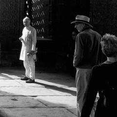 Attitude ;) (saran.narendran@yahoo.com) Tags: men people street photography delhi qutub minar black white monochrome