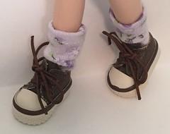 Short Spring Time Lavender Flower Socks For Blythe...