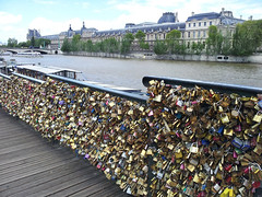 Pont des Arts (U A Satish) Tags: pontdesarts lovelocks paris france outdoor bridge locks buildings riverseine sky uasatish