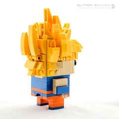 Super Saiyan Goku (dvdliu) Tags: lego moc brickheadz dragon ball z super saiyan goku frieza battle namek
