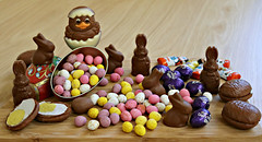 2017 Sydney: Easter Eggs-travganza! (dominotic) Tags: 2017 food happyeaster eastereggs chocolate sweets candy lolly easterbunny easterchicken marshmalloweggs candycoatedchocolateeggs sydney australia