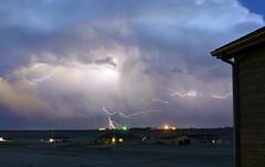 Lightning Comp7 (northern_nights) Tags: lightning lightningcomposite stacked nikond7000 nikkor35mmf14 cheyenne wyoming sky twilight dusk