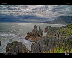 Craggy Coast (tomraven) Tags: coast rocks pancake tom raven coastal coastline seascape landscape aravenimage west sky clouds ocean water surf erosion q22017 pentax k50 fb 500px ev