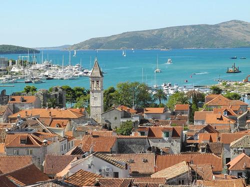 Blick über die Altstadt von Trogir