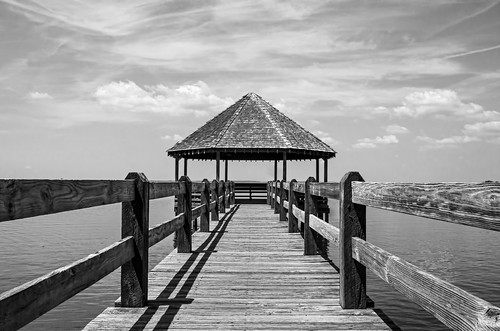 Currituck Sound in Black and White