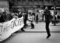against the system (Zlatko Vickovic) Tags: streetstreetphoto streetphotography streetphotographybw streetbw streetphotobw blackandwhite monochrome zlatkovickovic zlatkovickovicphotography novisad serbia vojvodina srbija documentary serbiaprotest