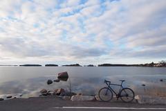 2017 Bike 180: Day 65, April 7 (olmofin) Tags: 2017bike180 bicycle finland espoo suomi meri sea polkupyörä jää ice mzuiko 918mm