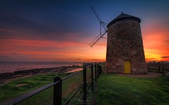 Worth Its Salt (Adam West Photography) Tags: windmill scotland fife east neuk firth forth st monans anstruther industrial haritage beauty adam west uk coast glow golden leading lines sails fence grass salt pans rocks stone sandstone beautiful