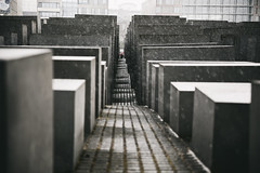 Holocaust Memorial #1 (james_drury) Tags: berlin germany holocaust memorial petereisenman burohappold snowing powerful moving canonef2470mmf28liiusm