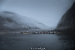 Fjord side Town (aaron.wiggan) Tags: lights blue 2017 aaronwiggan fjord norge fijord fz1000 norway fog grey europe town march