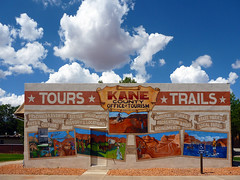 Kane County Office of Tourism (Runemaker) Tags: utah tourism mural art wave grandcanyon lakepowell grandstaircase zionnationalpark sky clouds facade façade
