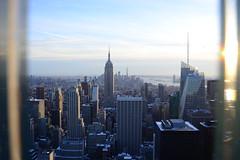 Skyline of Manhatten (airspex) Tags: nyc newyork new york city newyorkcity usa manhatten skyline empire state building empirestatebuilding world trade center worldtradecenter architecture dusk sunset