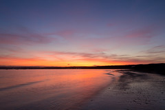 Marazion Sunset [In Explore 15/4/2017] (Rich Walker75) Tags: marazion cornwall beach sunset longexposure longexposures longexposurephotography landscape landscapes landscapephotography sky orange blue canon efs1585mmisusm eos100d