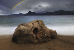 Ficajola (Corsica) (Mathulak) Tags: ficajola corsica beach porto piana rainbow arcenciel montagne mer sea mountain
