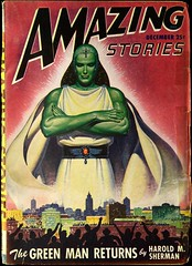 Amazing Stories Vol. 21, No. 12 (December, 1947). Cover Art by Robert Gibson Jones (lhboudreau) Tags: pulps pulp magazine magazines pulpmagazine pulpmagazines magazinecoverart pulpmagazinecover pulpmagazinecovers magazinecover magazinecovers pulpcover pulpcovers amazing amazingstories amazingstoriesmagazine december1947 1947 sciencefiction pulpfiction pulpart volume21number12 coverart magazineart vintagepulpcover vintagepulpcovers vintagepulpart illustration illustrations drawing drawings vintagepulpmagazine vintagepulpmagazines stories greenman thegreenman haroldmsherman sherman haroldsherman spacealien greenskin alien robertgibsonjones robertjones thegreenmanreturns greenmanreturns