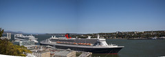 Saint Lawrence river, Quebec CIty, Quebe, Canada (M&M_Photography) Tags: port vieuxport oldport river levis quebec city canada ship cruise travel tourism picture photo followme panoramic canon queenmary2 stlawrenceriver stlawrence bluesky windy