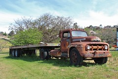 Antique Gas & Steam Engine Museum (USautos98) Tags: 1951 ford f6 bigjob truck tractortrailer
