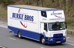 RENAULT - BURKE BROS Removals Wolverhampton (scotrailm 63A) Tags: lorries trucks removals