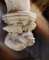 Cléry-Saint-André, Notre-Dame, reading angel (15th c.). (markusschlicht) Tags: clérysaintandré cléry notredame oratoire ange angel angelo engel 15th century sculpture skulptur statue gothic gothique gotik gotisch gotico flamboyant