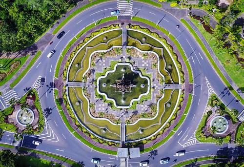 Denpasar roundabout.