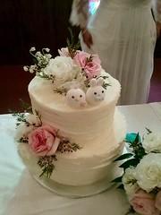 Real wedding photo -- cute rabbit MochiEgg wedding cake topper (charles fukuyama) Tags: wedding weddingcaketopper bunny animalscaketopper handmadecaketopper customcaketopper cakedecor cakedesign weddingseason kikuike couple marriage lapin ウサギ hase conejo coniglio