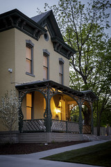 Elkins House (Notley) Tags: httpwwwnotleyhawkinscom notleyhawkinsphotography notley notleyhawkins 10thavenue house home realestatephotography realestate evening bluehour 2017 architecture building april spring alleyareality facade elkinshouse 1882 porch porchlight