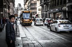 Milano tramspotting (Henka69) Tags: street streetphoto milano streetcolour tram streetcar city dof bokeh