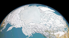 Sea Ice in the Northern Hemisphere on 7 March 2017, variant (sjrankin) Tags: 21april2017 edited nasa 7march2017 seaice northpole earth visualization primage arcticocean northamerica asia siberia japan russia canada unitedstates pacificocean