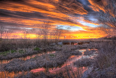 The sky comes in colors... (Kansas Poetry (Patrick)) Tags: wetlands bakerwetlands lawrencekansas lawrence kansas sunset color patrickemerson