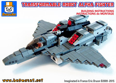 ROBOTIC-FIGHTER-ALPHA-GREY-COVER (baronsat) Tags: lego mecha robot model custom moc japan new armored battle mech figure toy scifi military war meka anime japanese exo gun cannon future space armor machine piloted walker vintage tv hobby baronsat gundam macross robotech transformable