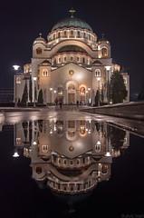 Reflection No2 (ivanBu) Tags: svetsava sveti sava hram beograd belgrade serbia srbija bukvicivan reflection refleksija longexposure night temple