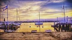 Sunset in Balboa Island, CA (FedeSK8) Tags: hdr orange marina boats surreal california fedesk8 federicoscotto cali nikond7000 sunset balboaisland