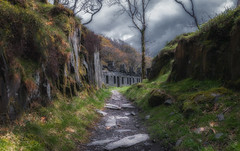 The road home... (Lee~Harris) Tags: path road quarry houses home built structure light shade shadow pov wales cymru nikon d300 slate rugged beauty history outdoor love dinorwic anglesey barracks colour tourism travel landscape landscapes landscapephotography visit thankyou