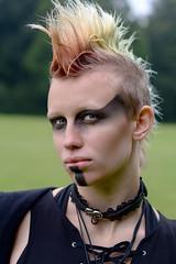 The Punk (Ben Gun) Tags: hamburg picnic jenischpark jenischhaus nikon d7100 50mm nikkor summer poratir porträt hair punk goth gothic haare iro irokesenschnitt model gemale girl