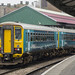 Class 153 DMUs 153312 and 153353 at Swansea