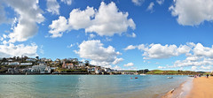 Sunny Salcombe (jamiegaquinn) Tags: salcombe east portlemouth eastportlemouth devon sunny panorama cumulus clouds sky spring