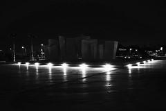 The night is my veil (Tiny Raissa) Tags: massacarrara massa carrara marinadimassa marina di italia toscana fountain fontana black white raissa nikon3300 nikonitalia nikon d3300 night