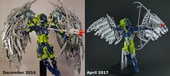 Old vs New (Anthony (The Secret Walrus) Wilson) Tags: lego bionicle mahri toa revamp moc