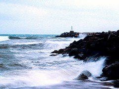 wave power (kallchar) Tags: sea ocean blue waves storm light beach olympus olympusomdem10 power energy stones flickr bad weather winter rain cold wind clouds colors smells melancholy