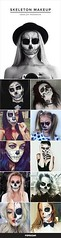 Skull | Skeleton Halloween Makeup , #makeup , FB: http://ift.tt/2p4glFW (ineedhalloweenideas) Tags: skull | skeleton halloween makeup costume happy h