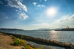 Noontime Sun (Terra Firma Productions) Tags: photography photo landscape landscapes landscapephotography landscapephoto sun sea seas ocean oceans shore shoreline coast coastline water afternoon noon noontime sunrays ray rays sony sonyalpha sonya7 sonya7ii adobe adobephotoshop adobelightroom photoshop lightroom bay bays bayside