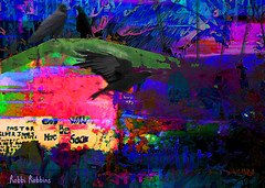 Pondering Life (brillianthues) Tags: ravens colorful collage photography photmanuplation photoshop philadelphia urban city
