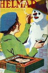 Smoking Snow Man (kevin63) Tags: lightner internetarchive motionpicturemagazine 1918 1900s covers color women glamorous old vintage antique retro magazine advertisement helmar turkish cigarettes gift snow man smoking