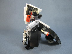 stripped down side view (Messymaru) Tags: original robot lego gunner mecha mech moc