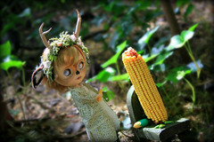 """Just Right"" (jillybug ~) Tags: corn little deer blythe custom ebl ossia pommepomme madamezecat fairyflip rainbowcoton"