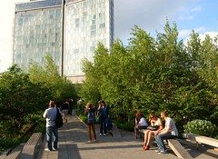 New York City's High Line on an Evening in May, 2013 (UGArdener) Tags: york west high historic new city side urban architecture trails lower line high chelsea district parks landscape rails manhattan yorks piet oudolf