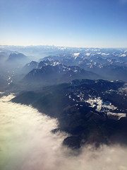 Flying Over the Cascades (dennoit) Tags: cloud mountain fog plane airplane washington flight cascades