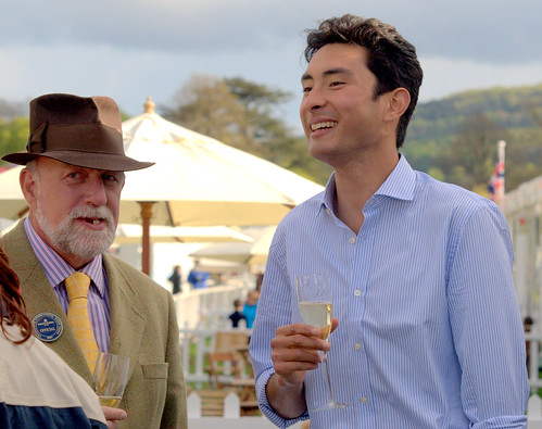 Alex enjoys the hospitality at  Chatsworth 2013 Photo Lucy Hall