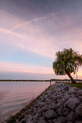 From The Backyard 2 (Kevin Rodde Photography) Tags: sunset lake clouds cloudy rip wrap overcast willow macatawa kevinroddephoto kevinroddephotography